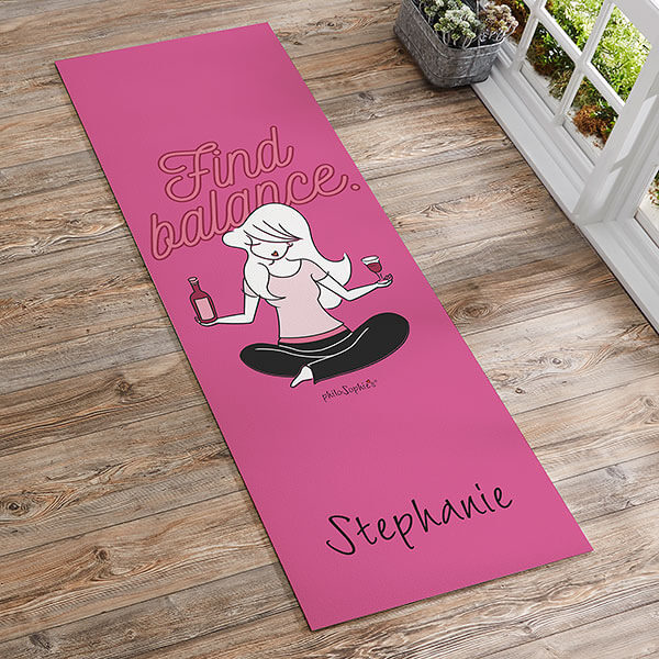 Find Balance Personalized Yoga Mat by philoSophie's