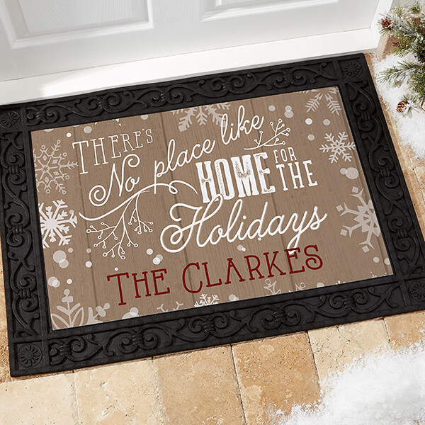 First Christmas In A New Home Doormat