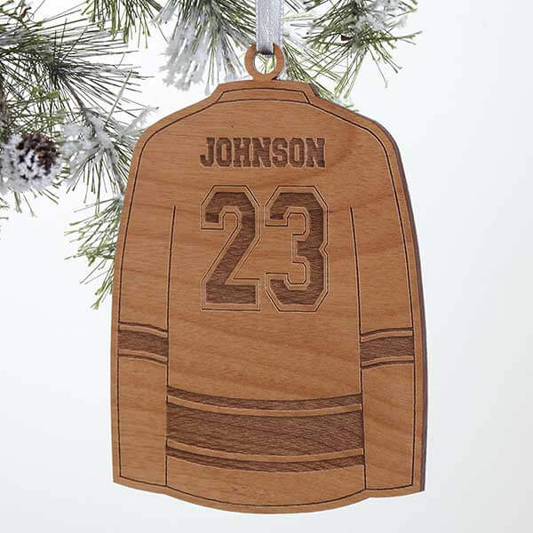 Personalized Kids Hockey Jersey Ornament