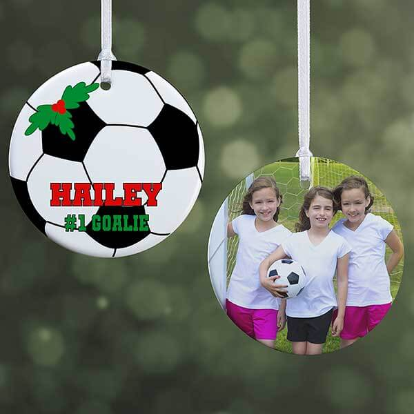 Personalized Kids Photo Soccer Ornament