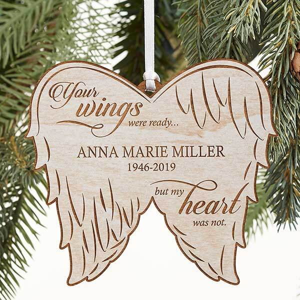 First Christmas Memorial Angel Wings Ornament