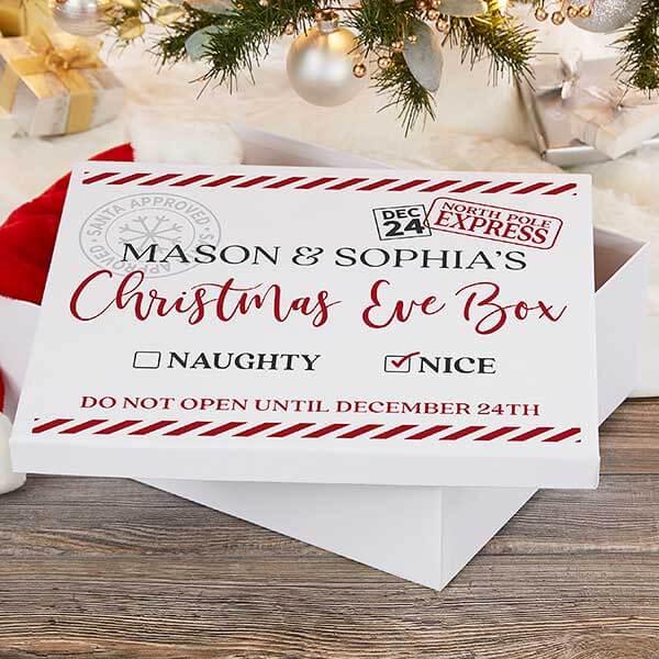 Personalized Christmas Keepsake Box
