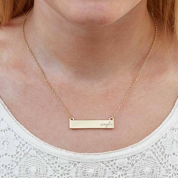 Singles Day Gift Ideas: Engraved Necklace