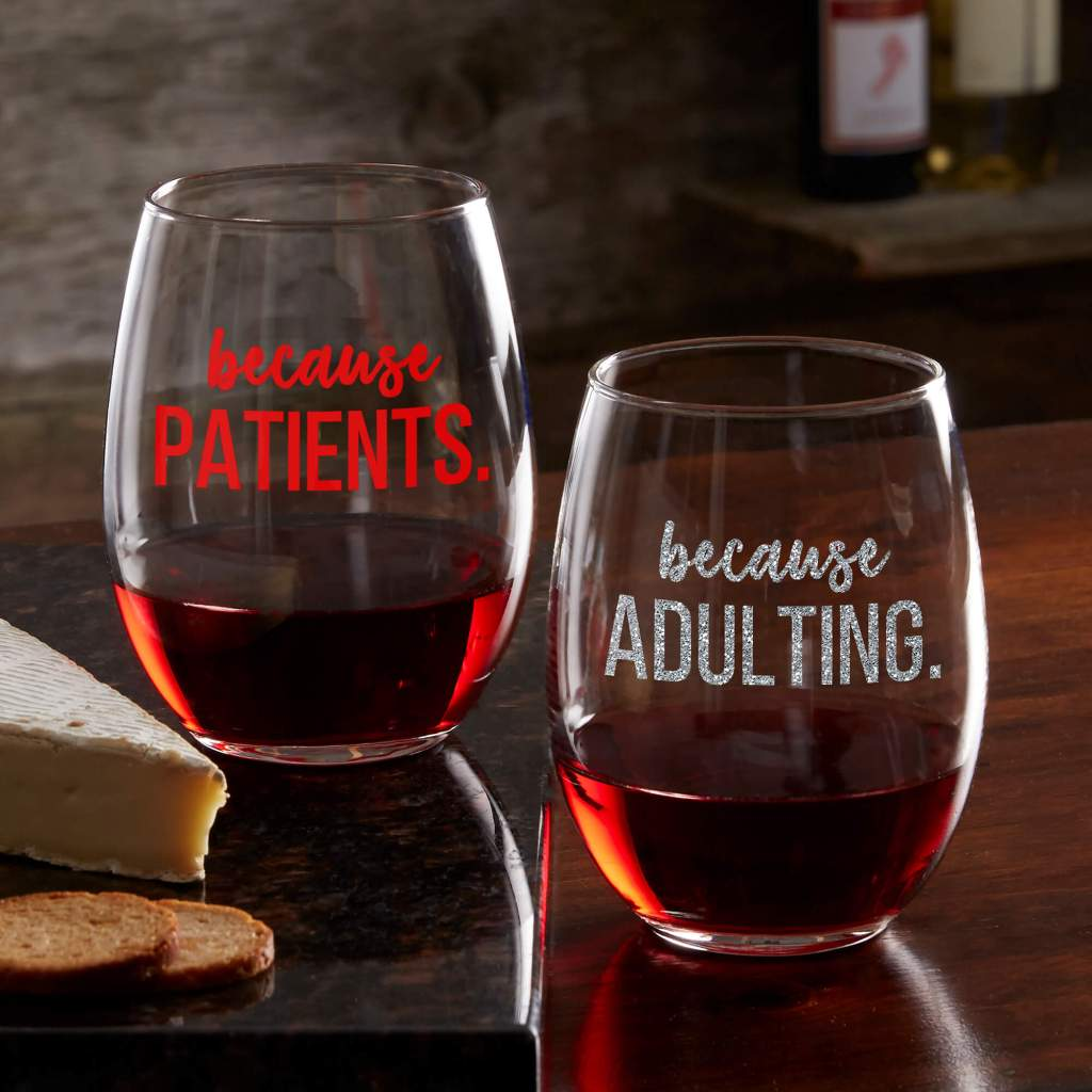 Singles Day Gift Ideas: Funny Wine Glasses