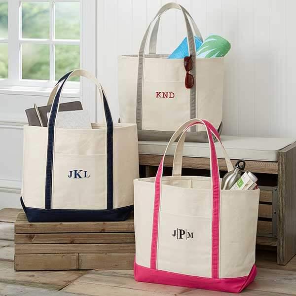 Monogrammed Weekender Tote Bag