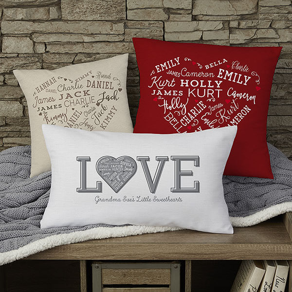 Personalized Heart Throw Pillows