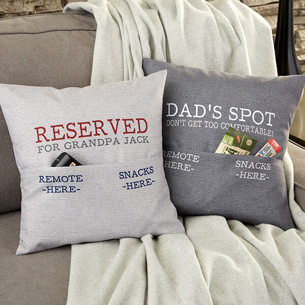 Personalized Pocket Pillow For Him