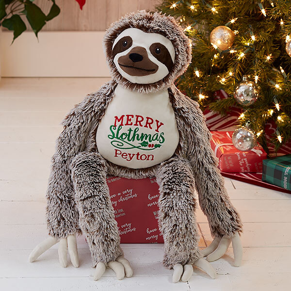 Christmas Sloth Stuffed Animal