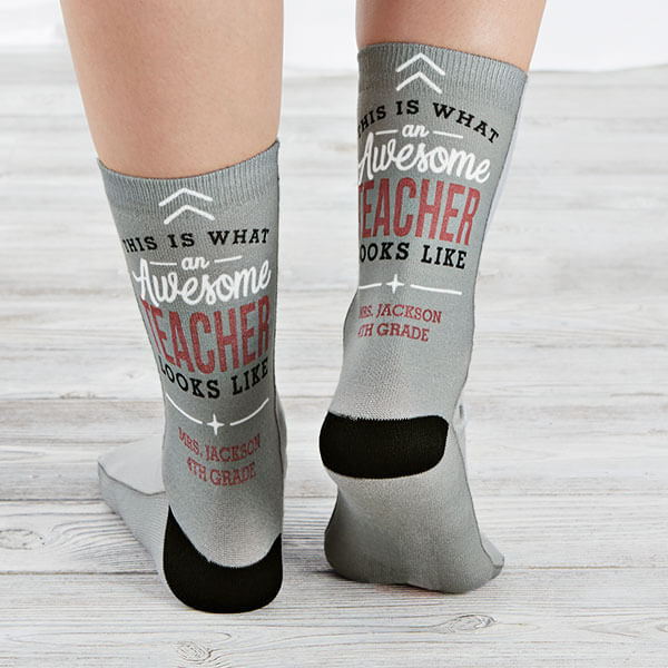 Awesome Teacher Custom Socks