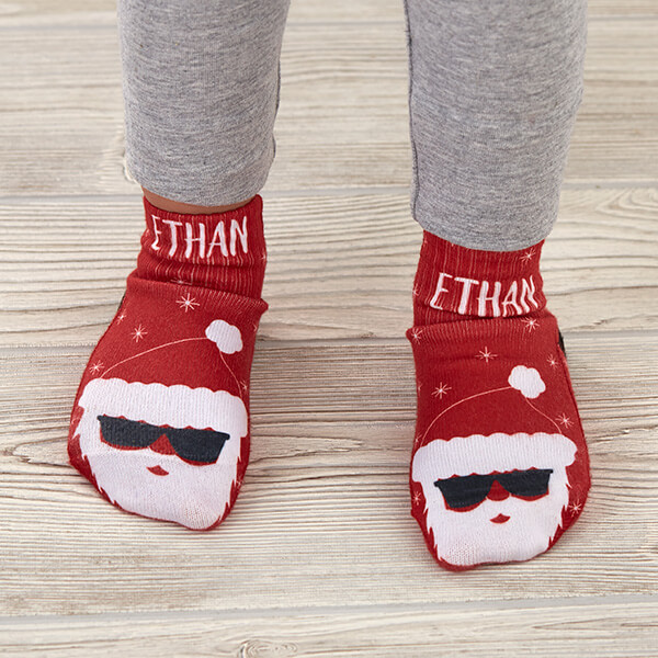 Santa Custom Toddler Socks