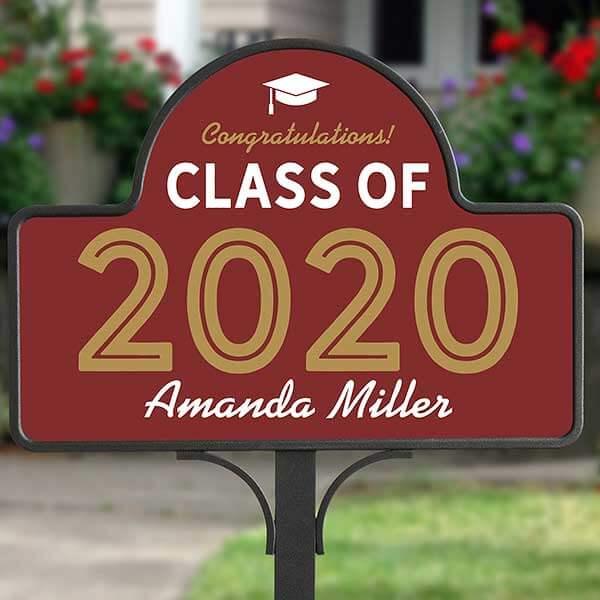 Graduating Class Of Garden Sign