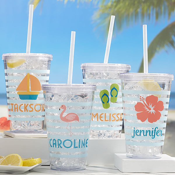 Beach Fun Personalized Insulated Tumblers