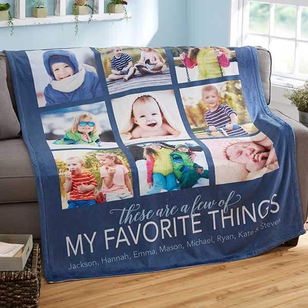 My Favorite Things Custom Photo Blanket
