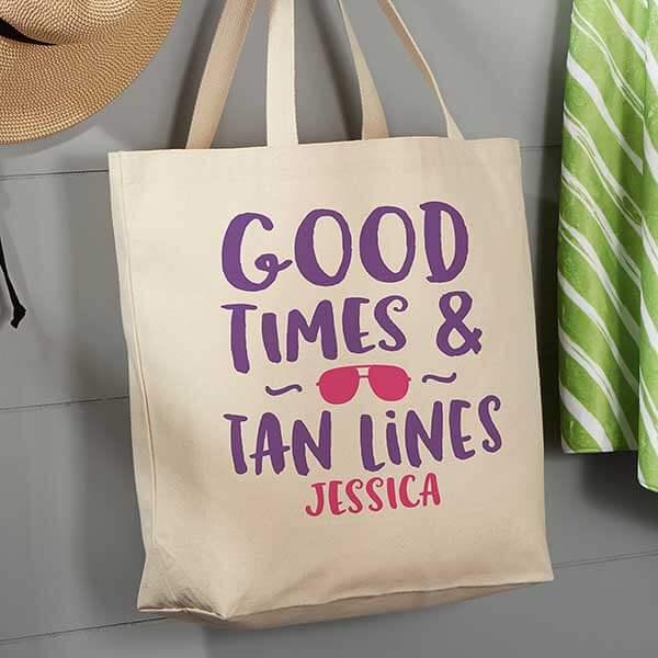Good Times & Tan Lines Beach Bag