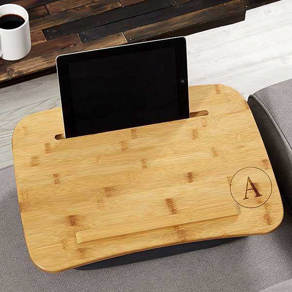Engraved Bamboo Lap Desk