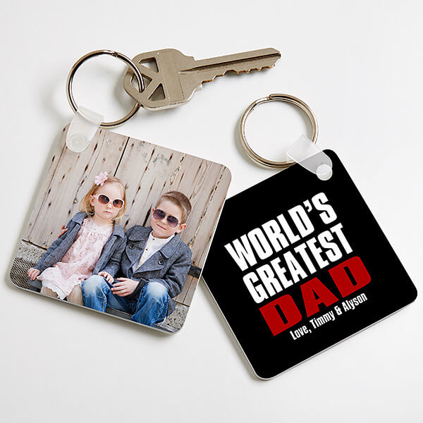 Custom Photo Keychain for Dad
