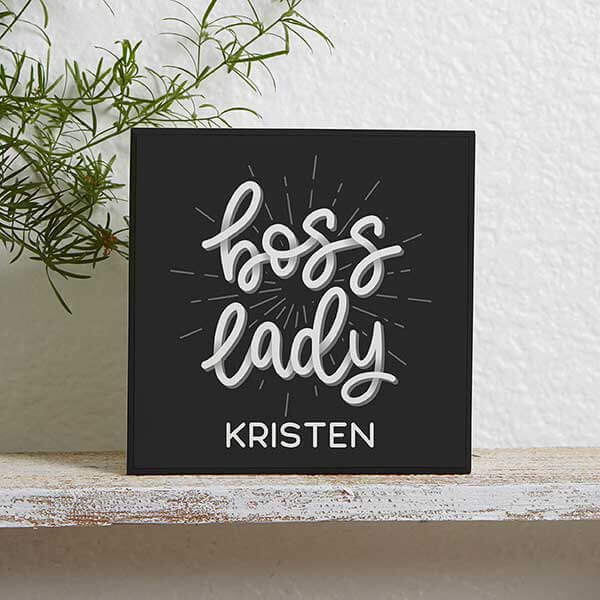 Boss Lady Wood Block