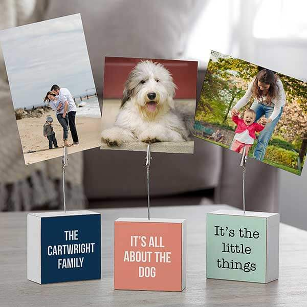 Custom Photo Clip Holder Block