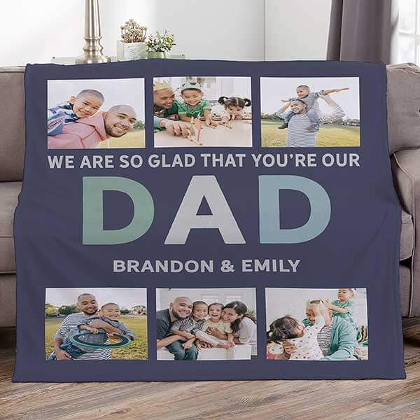 Dad Photo Blanket