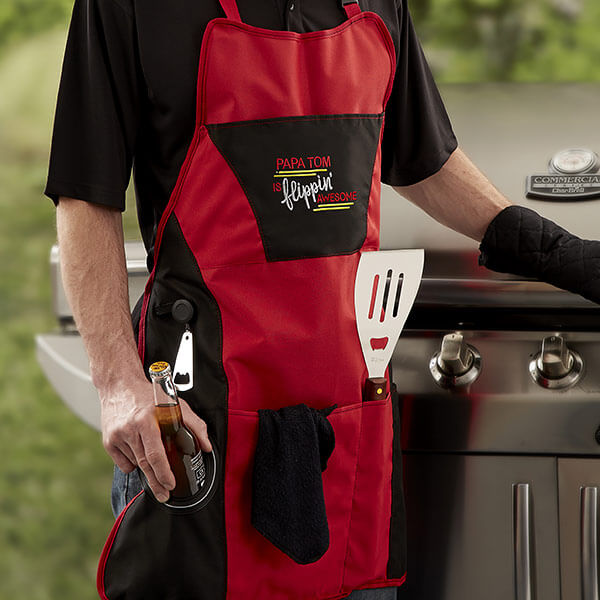 Embroidered Grilling Apron Set
