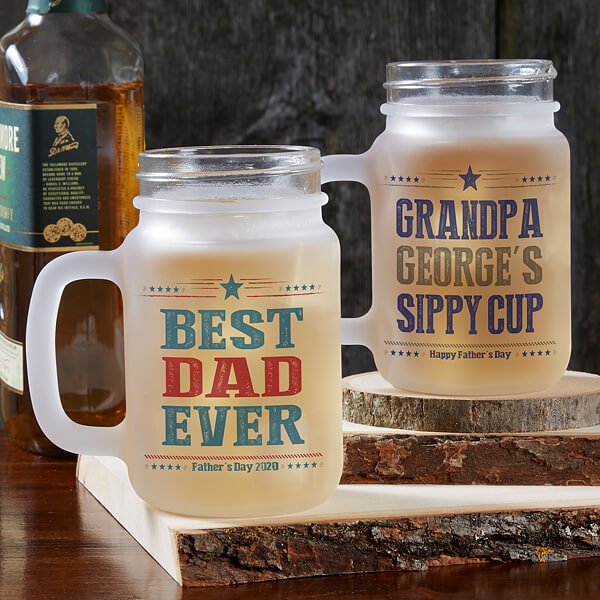 Father's Day Mason Jar Mugs