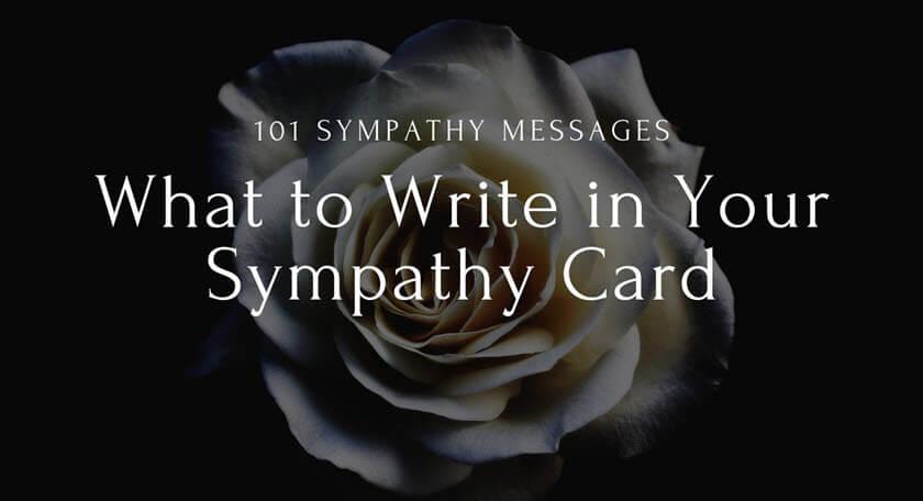 101 Sympathy Messages
