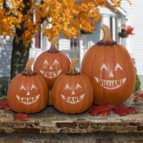 Personalized Decorative Pumpkins