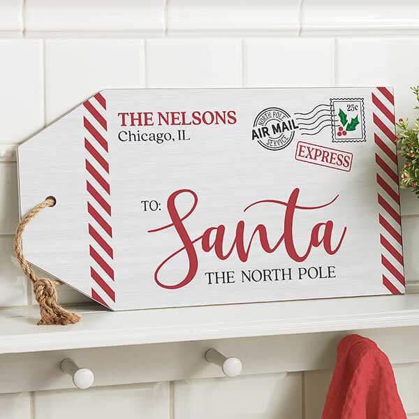 Letter to Santa Wood Envelope