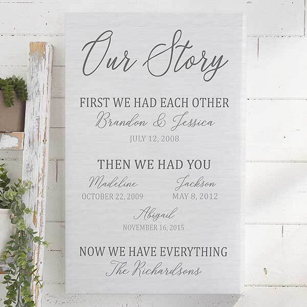 No Kid Hungry - Our Family Story Canvas Print