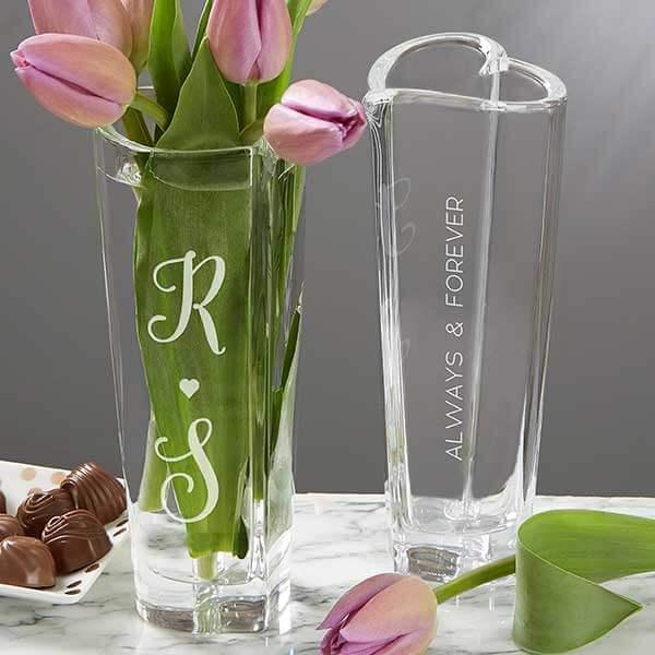 15th Anniversary Gift - Crystal Flower Vase