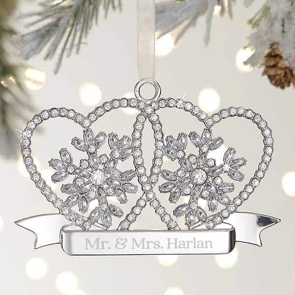 25th Anniversary Gift Ideas - Silver Christmas Ornament
