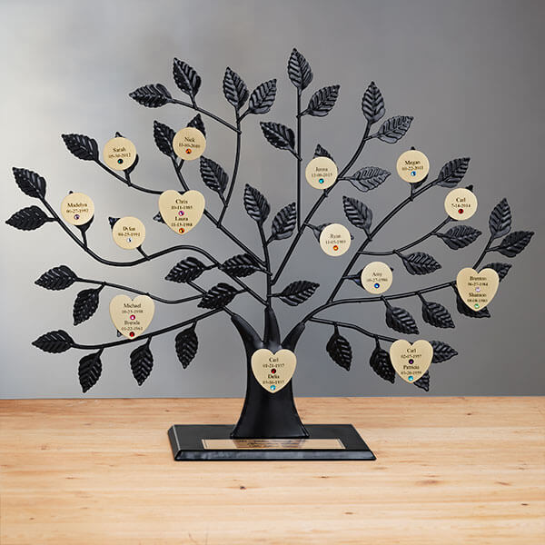 50th Anniversary Gifts - Gold Family Tree