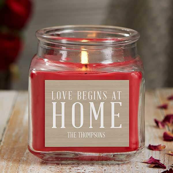 Love Begins at Home Scented Candle