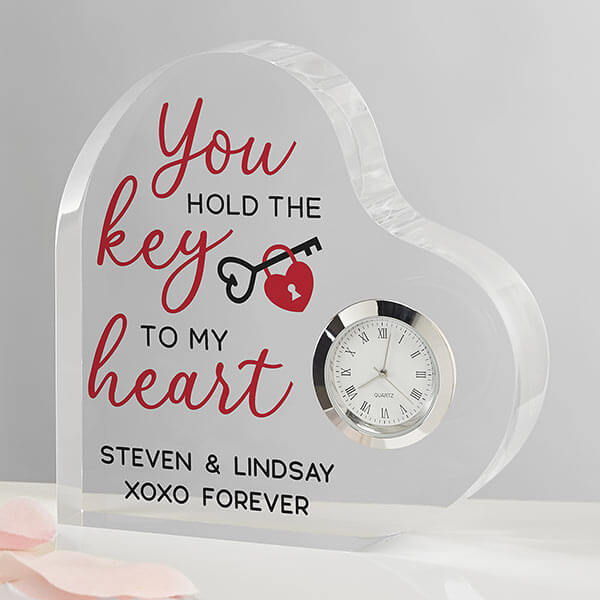 First Anniversary Gift - Heart Shaped Clock