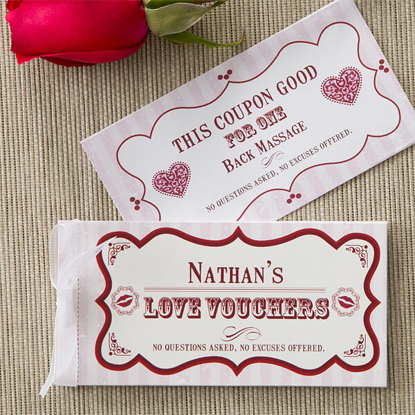 Paper Anniversary Love Coupons