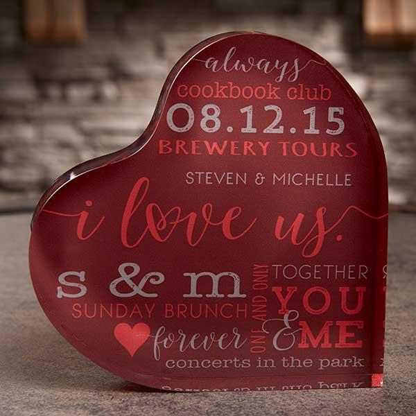 Colored Heart Keepsake Engagement Gift