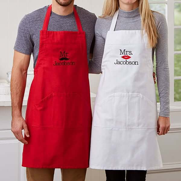 Couples Matching Aprons