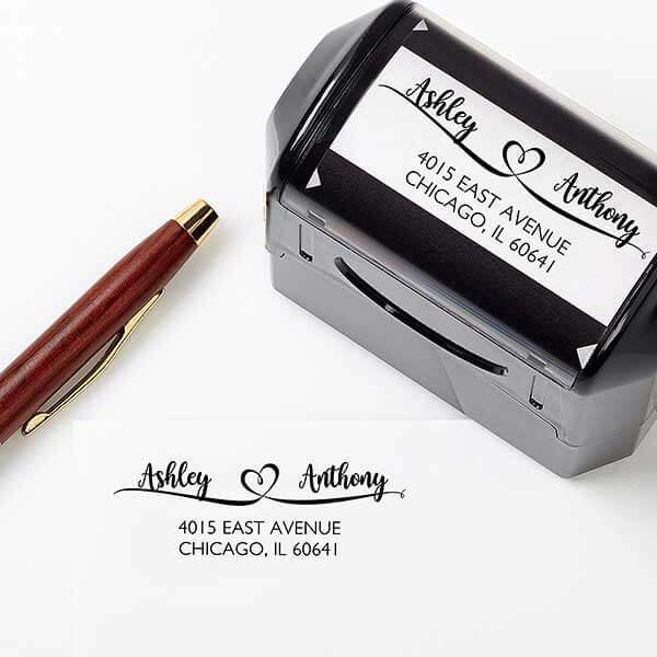 Engagement Gift Address Stamp