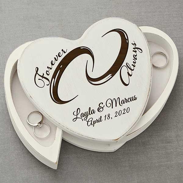 Engraved Wood Ring Box