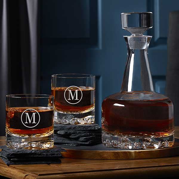 Engraved Whiskey Decanter