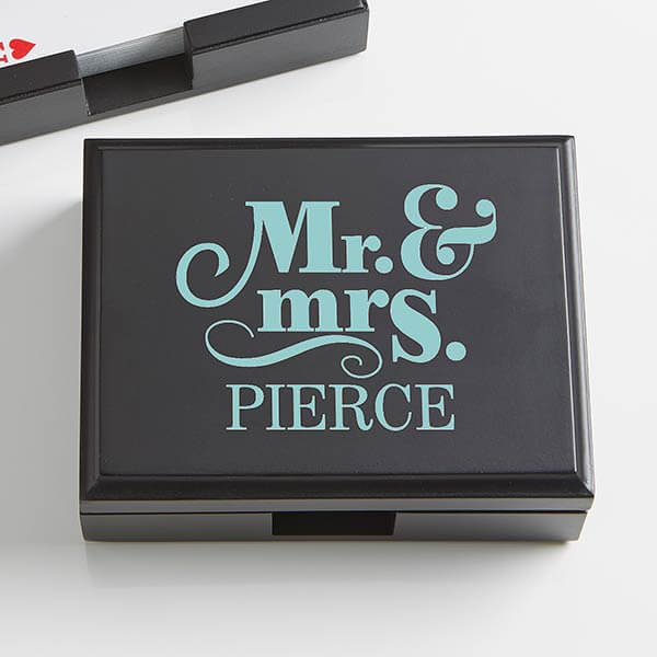 Happy Couples Playing Card Box