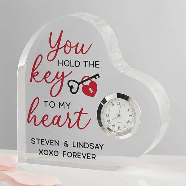 Heart Shaped Clock Gift