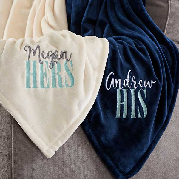 His & Hers Matching Blankets Engagement Gifts