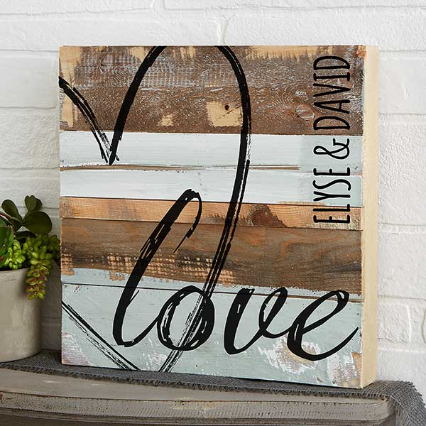 Love Rustic Wood Wall Art
