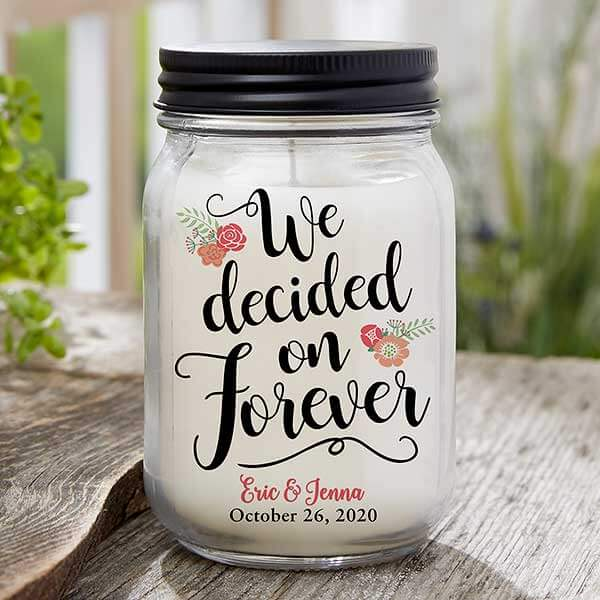 Personalized Engagement Candle Jar