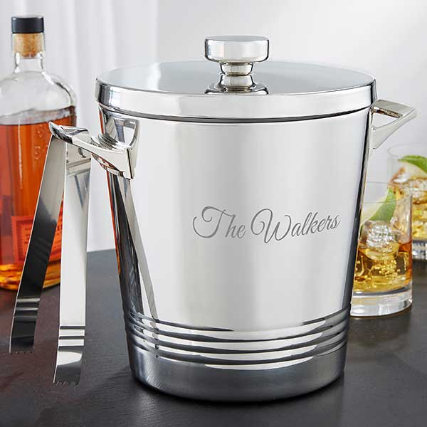 Personalized Ice Bucket with Lid