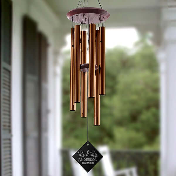 Personalized Wind Chimes Engagement Gifts