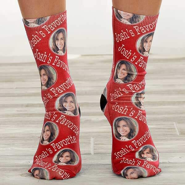 Custom Photo Socks Engagement Gift