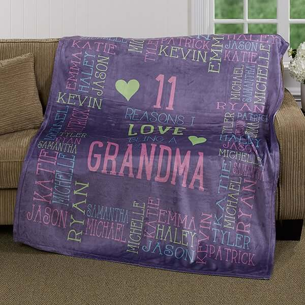Personalized Mother's Day Blanket for Grandma