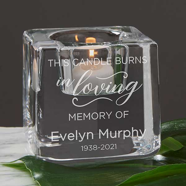 This Candle Burns In Loving Memory... Wedding Memorial Votive holder